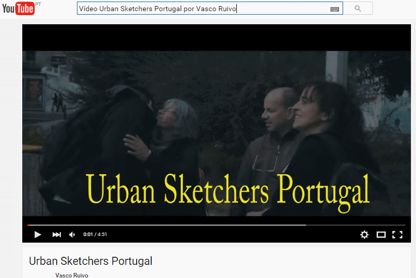 VÍDEO - URBAN SKETCHERS PORTUGAL