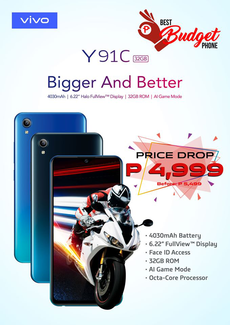 Sale Alert: Vivo Y91C receives another price cut, down to PHP 4,999!