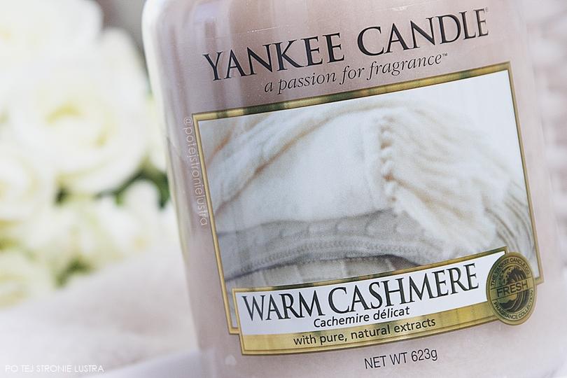etykieta świecy yankee candle warm cashmere