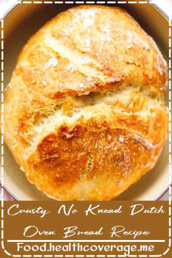Crusty No Knead Dutch Oven Bread Recipe - easy to make with just a few basic ingredients, no special equipment. Let to rise overnight and baked in a Dutch oven. The perfect homemade bread, a foolproof recipe.