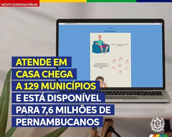 Governo de Pernambuco disponibiliza para população de Vertente do Lério, o aplicativo atende em casa.