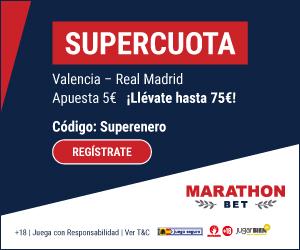 marathonbet Apuesta en la Supercopa España supercuota hasta 9 enero 2020
