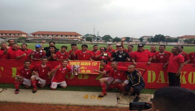 [Berita Foto] Final Turnamen Sepakbola Dankor Brimob Cup 2019