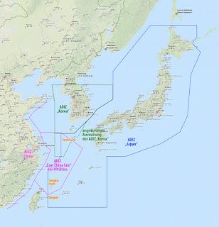 საჰაერო თავდაცვის საიდენტიფიკაიციო ზონები აღმოსავლეთ ჩინეთის ზღვაში