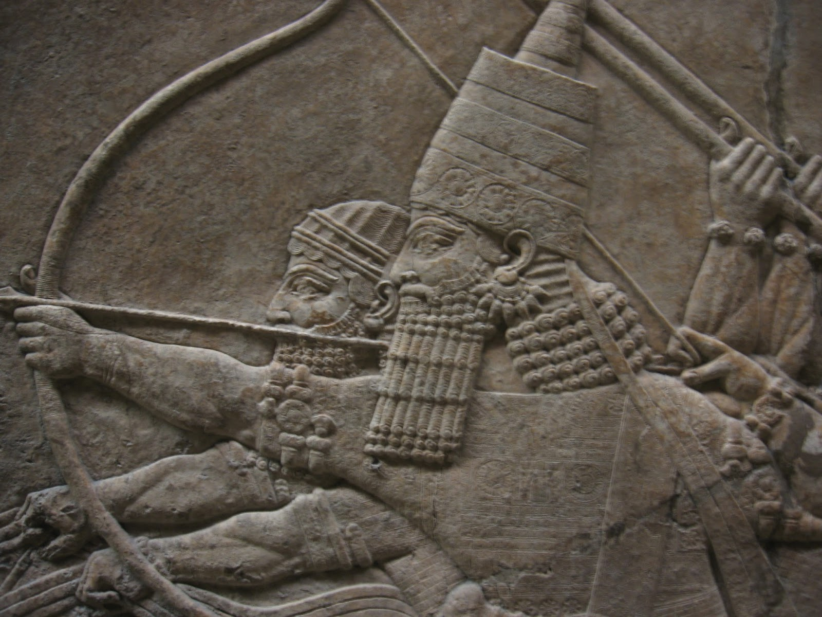 London,+British+Museum,+Assyrian+relief.