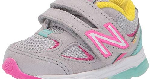 #girl #shoes New Balance Girls' 888v2 Hook and Loop Running Shoe, GreyRainbow 7.5 XW US Toddler