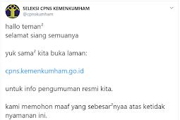 Pengumuman Hasil SKD CPNS Kemenkumham 2019/2020 (Link Download)