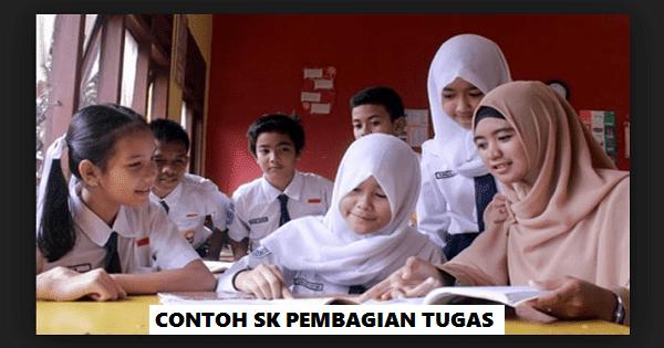 Contoh SK Pembagian Tugas Guru SD SMP SMA 2019/2020 (doc)