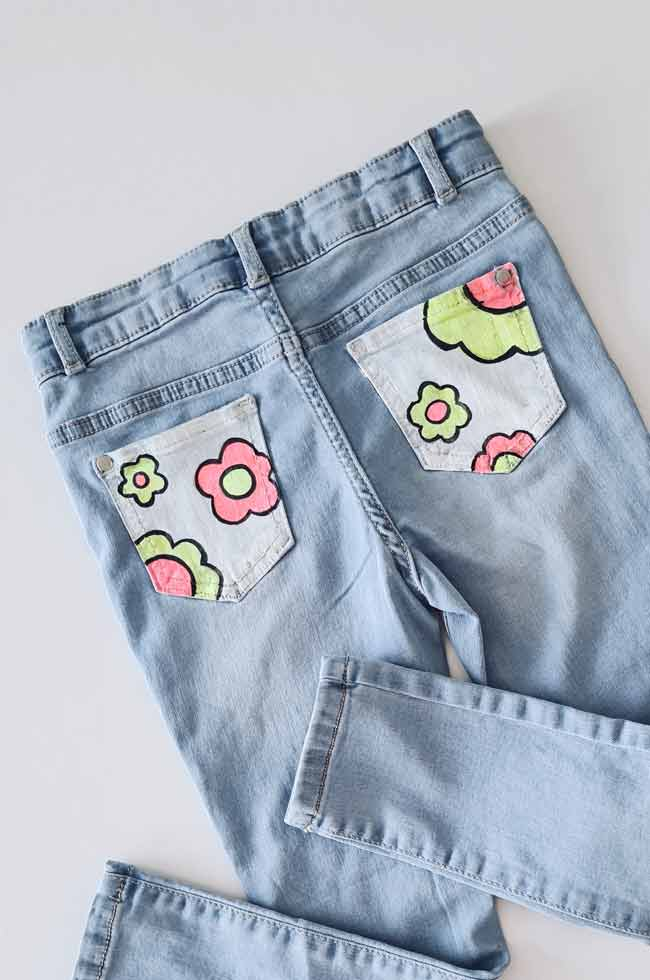 How To Draw On Denim Easy Fashion Diy Now Thats Peachy,Driveway Gate Designs