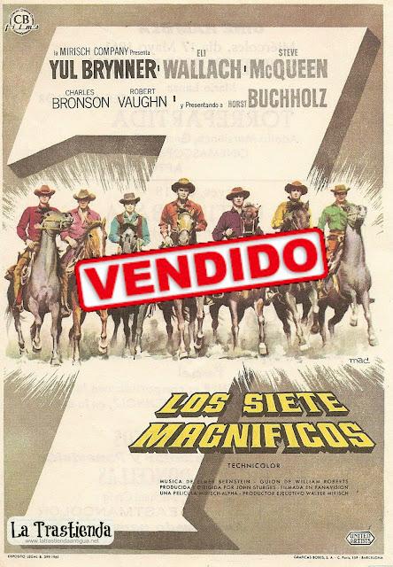 Programa de Cine - Los Siete Magníficos - Yul Brynner - Steve McQueen - Eli Wallach - Charles Bronson