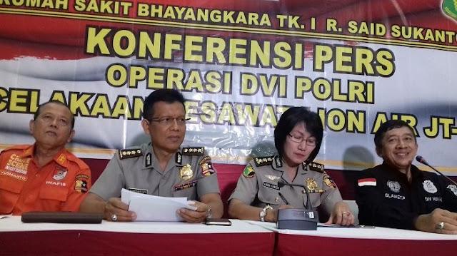105 Kantong Jenazah Penumpang Lion Air JT-610 Ditemukan, 7 Teridentifikasi, Berikut Datanya
