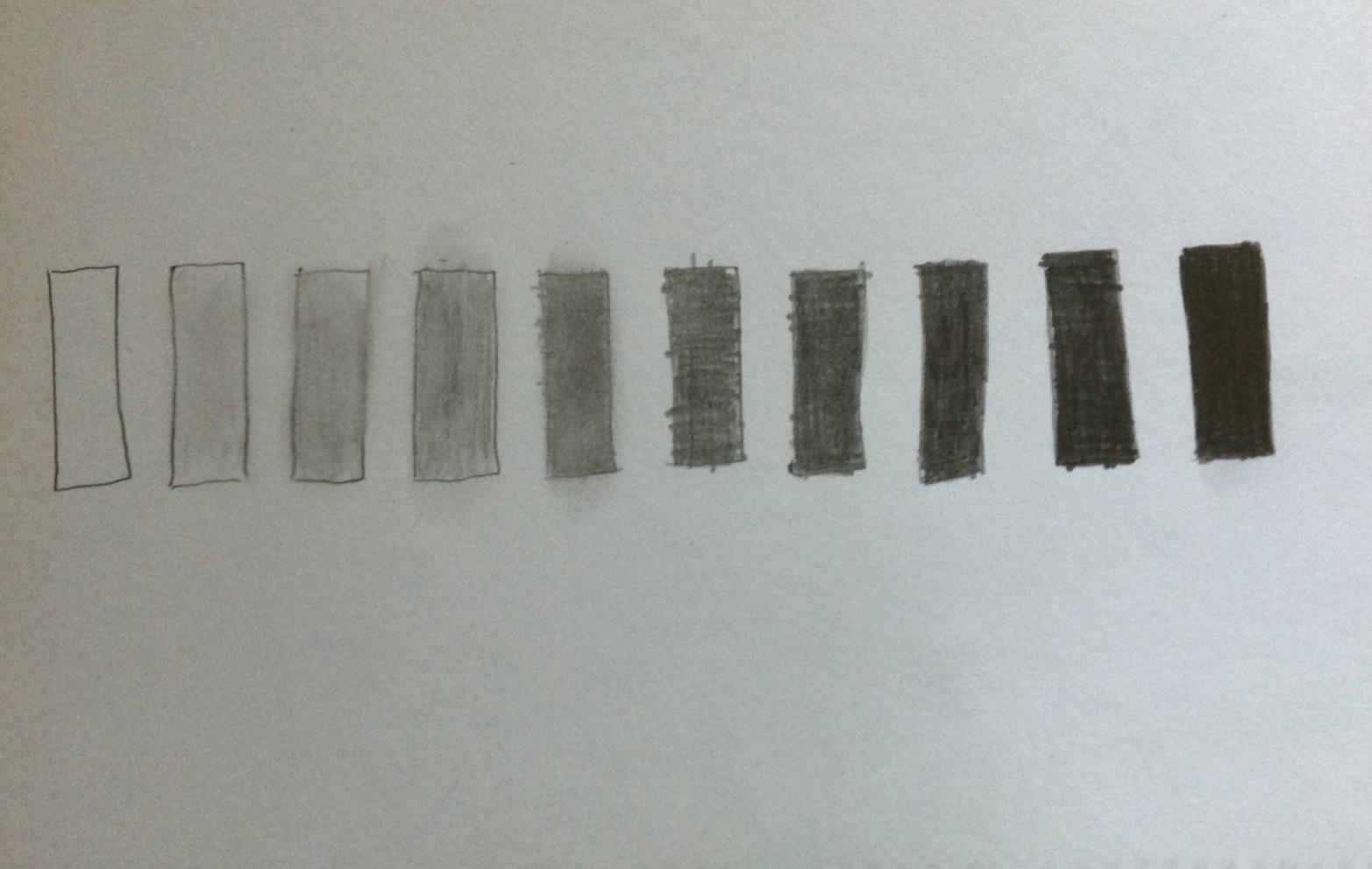 Art 103 2d Process 10 Step Value Scale