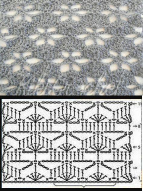 graficos-mantas-crochet-Crochet IMAGEN Puntada a crochet especial para mantas y cobijas por MAJOVEL CROCHET
