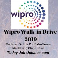 WIPRO Walk-in Drive 2019