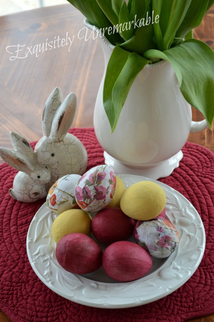 Decoupage Napkin Easter Eggs