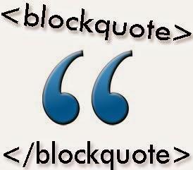 Customize Blogger Blockquote