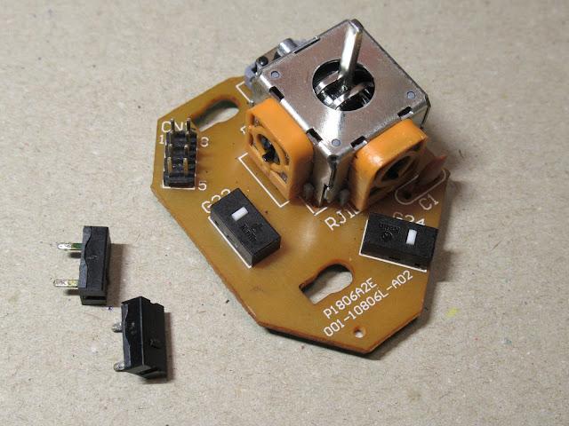 G13のジョイスティック基板、スイッチ交換完了