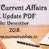 Daily Current Affairs 1st December 2018 For All Competitive Exams | Daily GK Update PDF