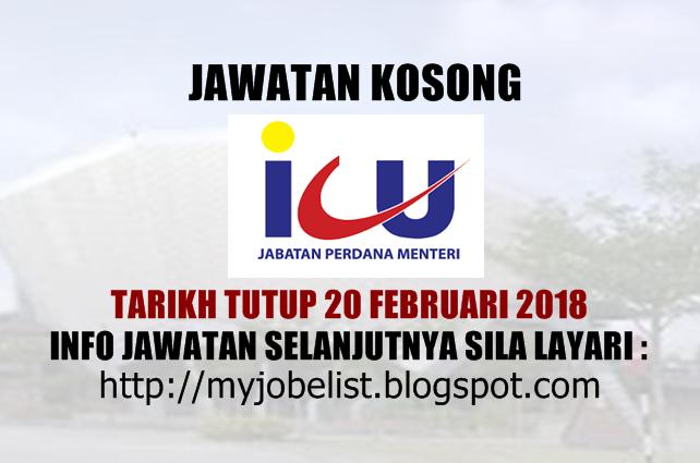 Jawatan Kosong Jabatan Perdana Menteri (ICU JPM) Mac 2018