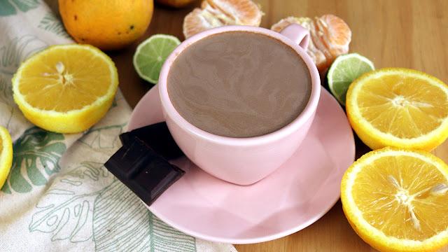 Chocolate quente com casca de frutas (super aromático) #cozinhasustentável