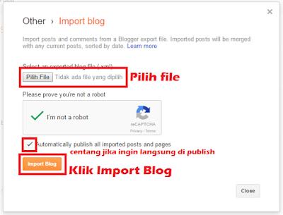cara import blog