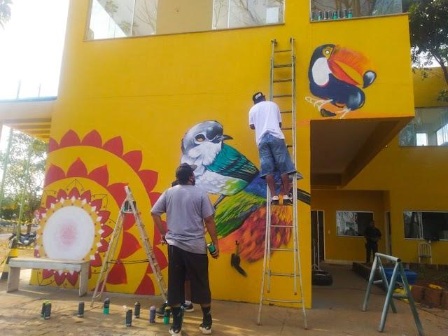 O Parque Ecológico Veredinha ganha viveiro e painel artístico