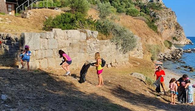 Εθελοντικός καθαρισμός στο Καστράκι της Αρχαίας Ασίνης