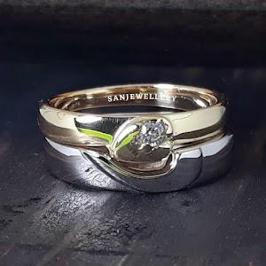 Cincin nikah platinum pasangan
