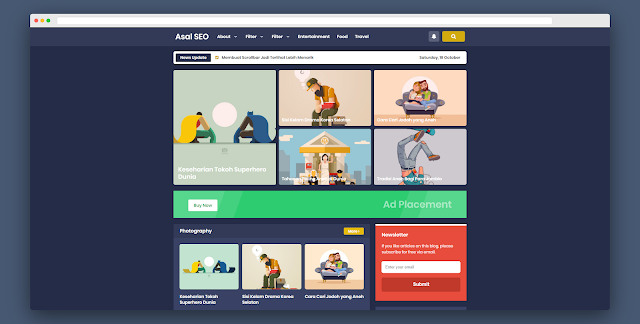 Asalseo Clone Template (Blogger Template Free Download)
