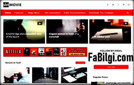 Blogger Video, Film Sitesi Teması İndir Seo Uyumlu 2020 SBEMovie