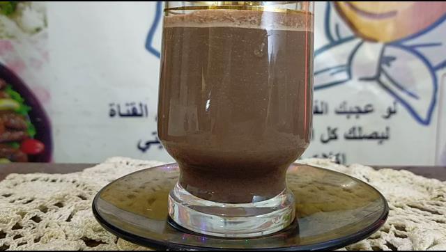 عصير شيكولاتة بارد او مشروب الكاكاو البارد الشيف محمد الدخميسي