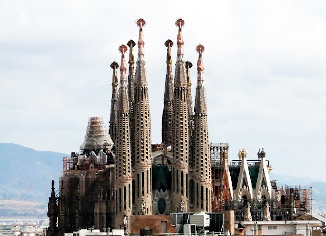 Gaudi's Sagrada Família (Church of the Holy Family) in Barcelona Spain   which has taken more than a century to build and will not be completed until 2026.