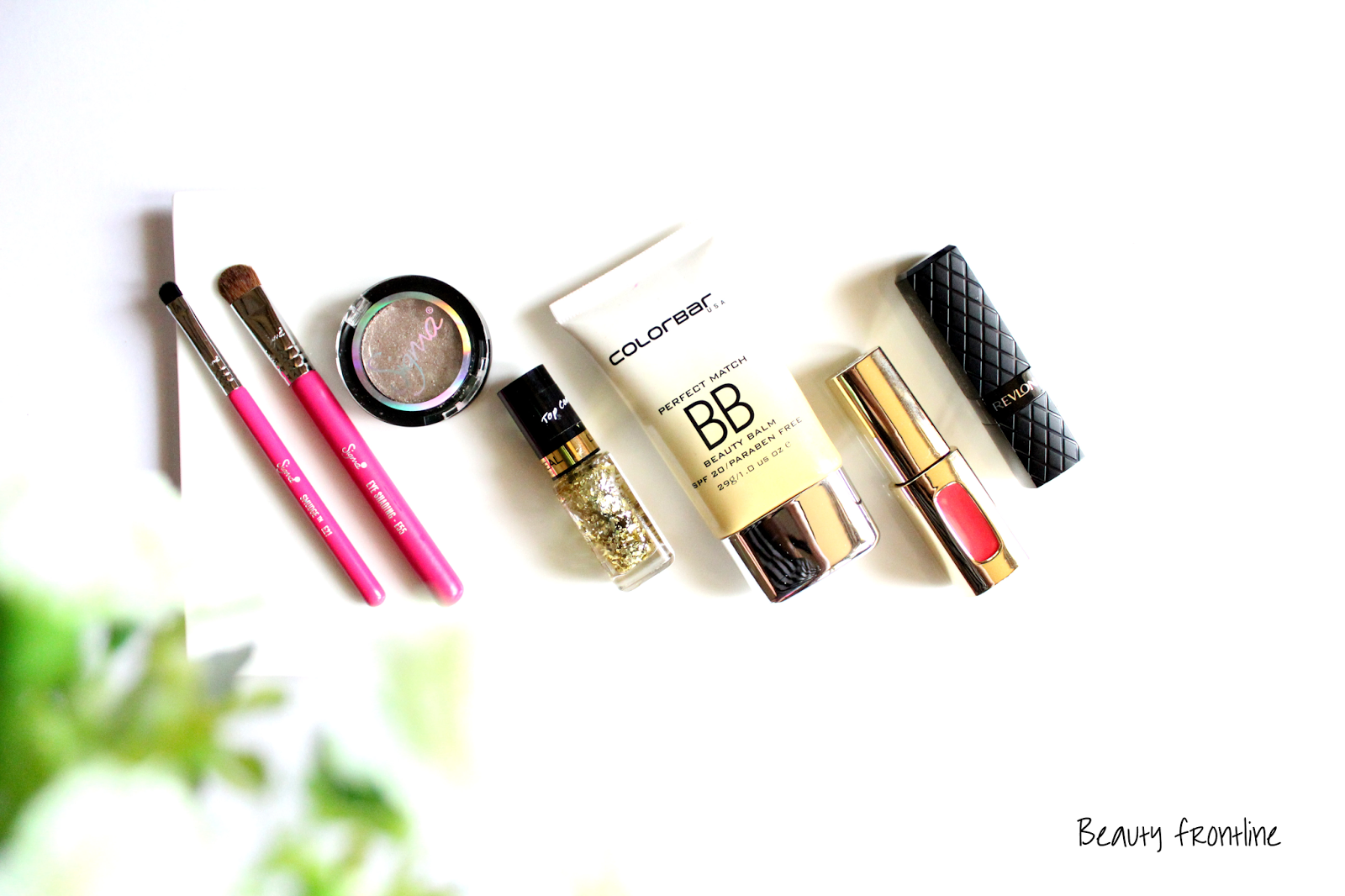 May 2015 beauty Favorites, colorbar, loreal, revlon, sigma beauty, eye makeup brushes, lipstick, lip gloss, beauty balm, nails top coat
