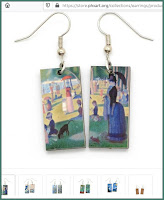Seurat Art Earrings