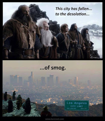Meme de humor sobre El hobbit