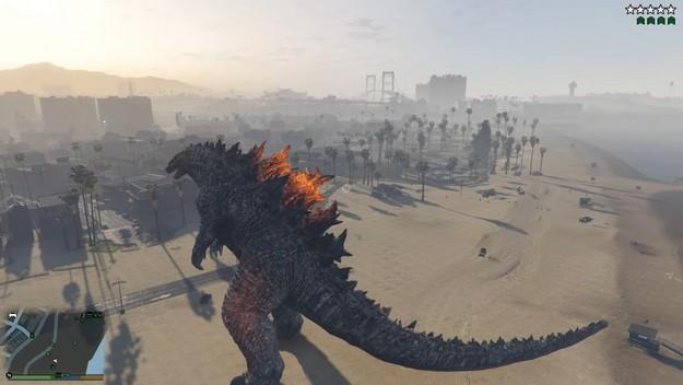 GTA 5 Godzilla and King ModeGodzilla and King Kong in GTA 5