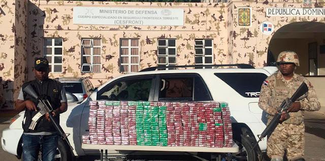 Detienen Jeep con 40 mil unidades de cigarrillos en contrabando