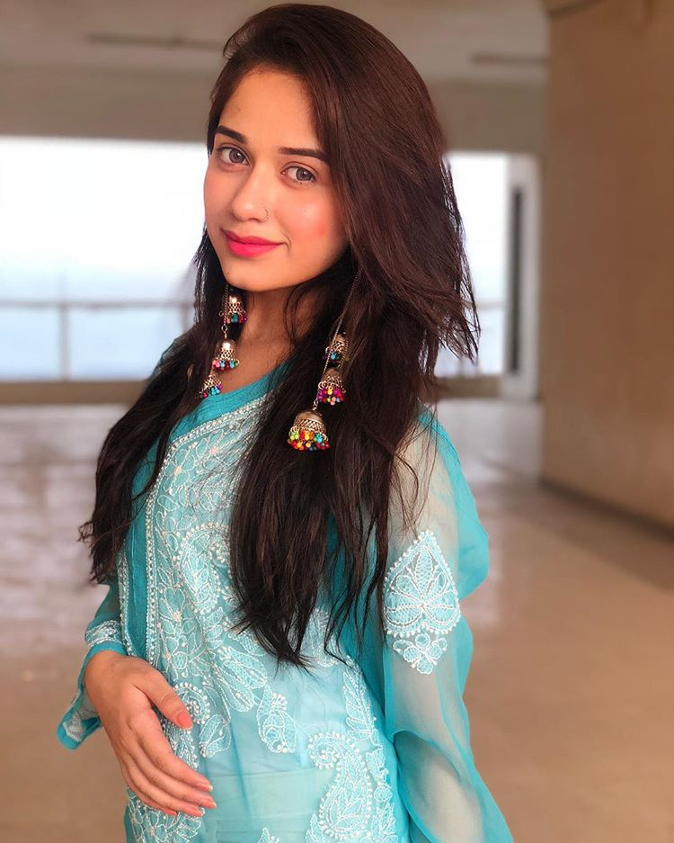 Jannat Zubair In Blue Dress