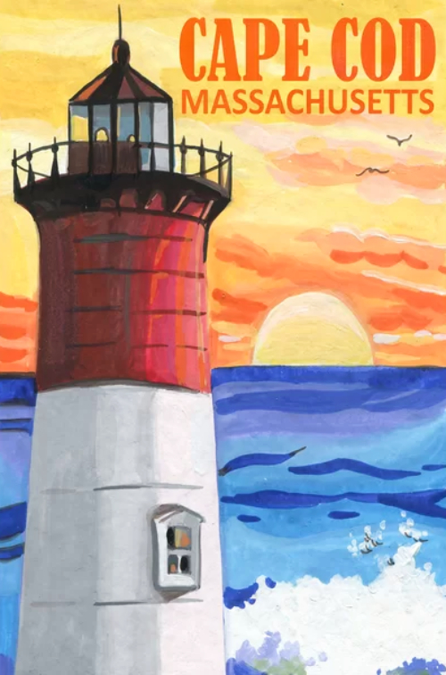 Cape Cod Lighthouse Destination Art Print