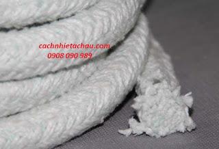 Dây sợi gốm Ceramic chịu nhiệt, chống cháy   Cách nhiệt Á Châu Ceramic%2BFiber%2BRope1