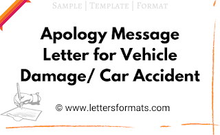 how do you write an apology letter for a car accident