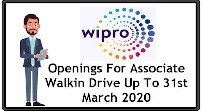 Wipro Limited Openings For Associate Walkin Hyderabad