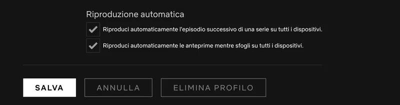 eliminare profili netflix