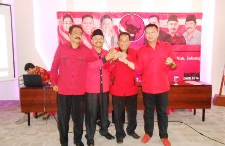 PDIP Subang Resmi Dipimpin Maman Yudia