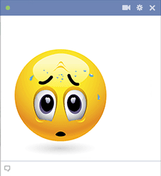 Sweating Emoticon for Facebook