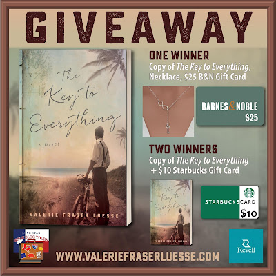 The Key to Everything tour giveaway graphic. Prizes to be awarded precede this image in the post text.