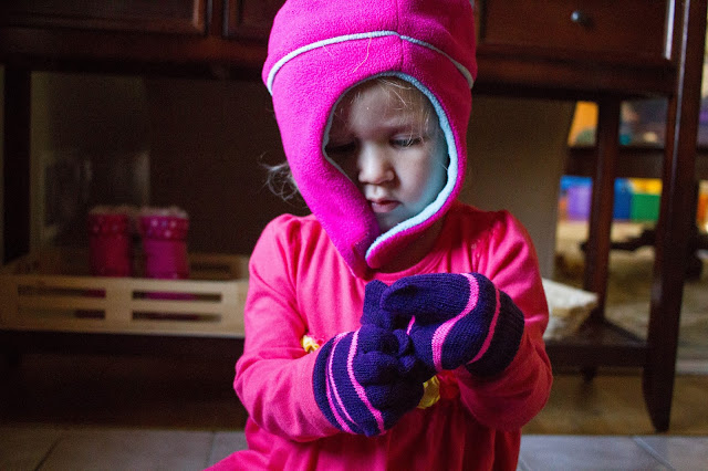 Montessori friendly tips for preparing for winter with your toddler.