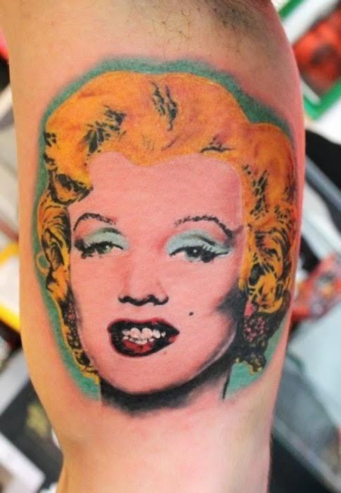 Tatuaje de Marilyn de Warhol