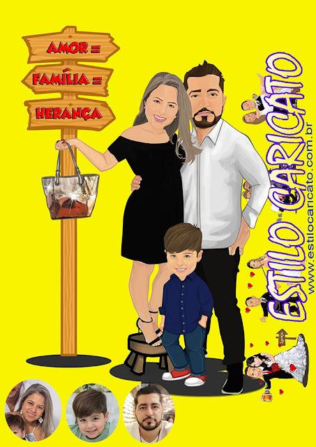 Caricatura Família