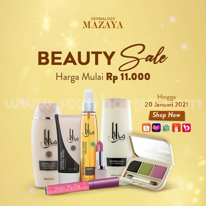 Promo MAZAYA Beauty Sale harga Spesial mulai Rp 11.000